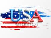 American Presidents Day celebration with 3D text. — Stock Vector