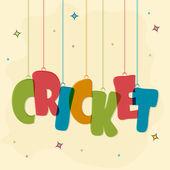 Poster or banner for Cricket Sports concept. — Stok Vektör