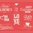 Typographic collection for Happy Valentines Day celebration. — Stock Vector #62521333