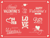 Typographic collection for Happy Valentines Day celebration. — Stock Vector