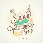 幸せなバレンタインデーのお祝いのグリーティング カード デザイン. — ストックベクタ