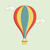 Concept of hot air balloon. — Stock Vector