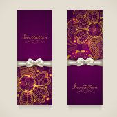 Concept of invitation card with floral decoration. — Stock Vector