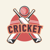 Sticker, tag or label design for Cricket. — Stock Vector