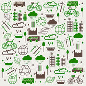 Concept of save Eco collection. — Vector de stock