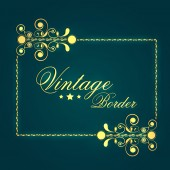 Concept of vintae frame border design. — Stock Vector