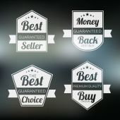 Badge, label and sticker for best seller. — Stockvector