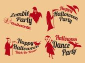 Badge and poster for Halloween party.  — Stock Vector