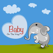 Elephant with stylish text. — Stock Vector