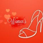 Ladies shoe for International Women's Day celebration. — Stock Vector #63359529
