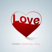 Happy Valentines Day celebration with creative heart. — Stockvektor