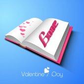 Happy Valentines Day celebration with text. — Stockvektor
