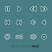 Concept of musical icon. — Stock vektor