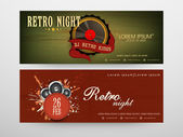 Concept of  header for party nights. — Stock Vector