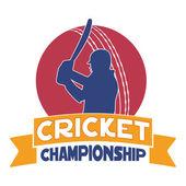 Cricket championship concept with batsman. — 图库矢量图片