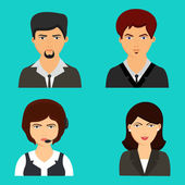 Set of different business avatars. — Stock Vector