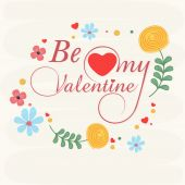 Greeting card design for Happy Valentines Day celebration. — Vector de stock