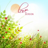Greeting card design for Love Season. — Vecteur