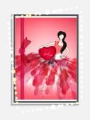 Greeting card design for Happy Valentines Day celebration. — Stock vektor