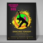 Poster, banner and flyer for dance party. — Wektor stockowy