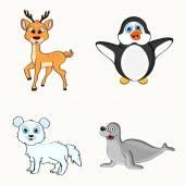 Set of animal characters. — Stockvector