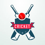 Cricket sports concept with bats and ball. — Stock Vector