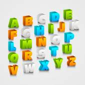 3d colorful capital letters. — Stock Vector