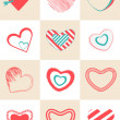Collection of different hearts shape. — Stock Vector #63450581