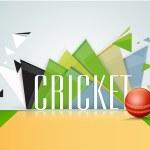 Постер, плакат: Cricket sports concept with red shiny ball