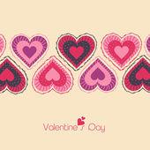 Creative hearts for Happy Valentines Day celebration. — Stock Vector