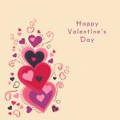 Greeting card design for Happy Valentines Day celebration. — Stock Vector