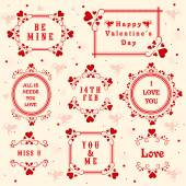 Typographic collection for Happy Valentines Day. — Stock Vector