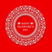Floral frame for Happy Valentines Day celebration. — 图库矢量图片