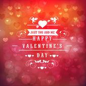 Cartolina d'auguri design per Happy Valentines Day celebrazione. — Vettoriale Stock