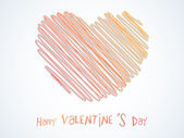 Happy Valentine's Day celebration with creative heart. — Wektor stockowy