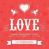 Greeting card design for Happy Valentine's Day. — Stock Vector