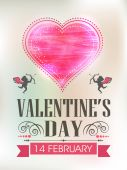 Template or brochure design for Happy Valentines Day. — Stockvector