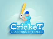 Batsman with bat for cricket championship league concept. — Stock Vector