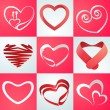 Collection of hearts for Valentines Day celebration. — Stock Vector #64124115