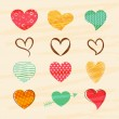 Set of colorful hearts for Valentines Day celebration. — Vetor de Stock  #64125473