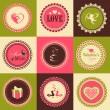 Постер, плакат: Set of stickers or labels for Happy Valentines Day