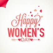 Greeting card design for International Women's Day celebration. — Vector de stock