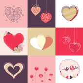 Happy Valentine's Day celebration collection. — Stock Vector