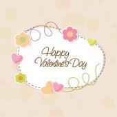 Krásný rám pro Happy Valentine den oslav. — Stock vektor