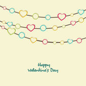 Greeting card design for Happy Valentine's Day celebrations. — Stock Vector