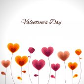Happy Valentine's Day celebrations with hearts. — Vector de stock