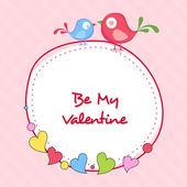 Stylish sticky design for Happy Valentine's Day celebrations. — Stock Vector
