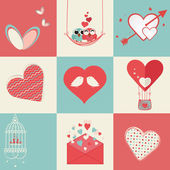Happy Valentines Day celebration elements. — Wektor stockowy