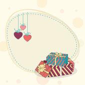 Blank frame for Happy Valentines Day celebration. — Stock Vector