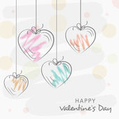 Happy Valentine's Day celebration greeting card. — Stock Vector